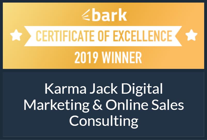certificate of excellence from bark 2019 winner