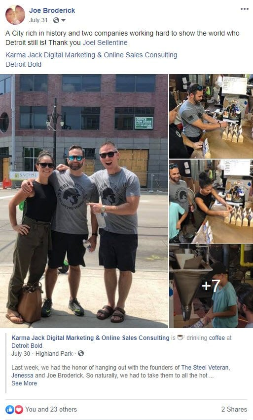 how a Facebook post shows up on a follower's feed